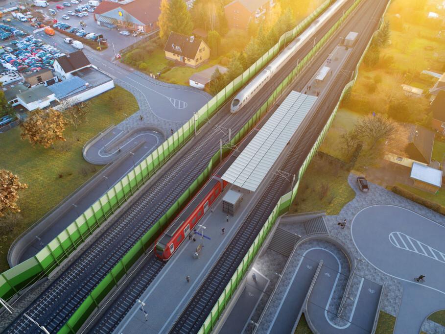 Die neue Station Pulverhof könnte künftig so aussehen.