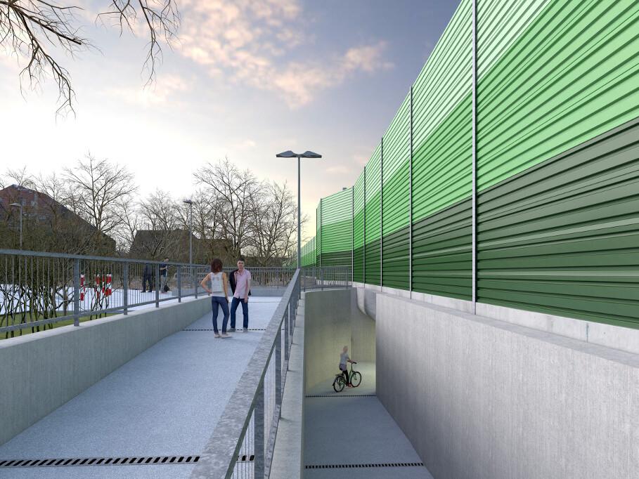 Beispielhafte Darstellung der Rampe an der Station Claudiusstraße