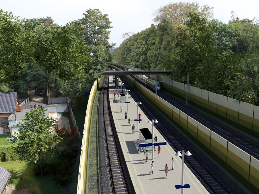 Blick in die Zukunft: So könnte die neue S-Bahn-Station Claudiusstraße aussehen