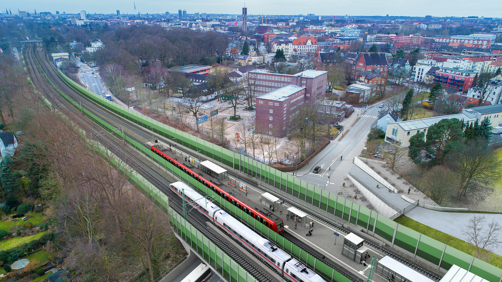 Die neue S-Bahn-Station Bovestraße