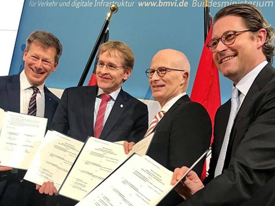 Unterzeichnung der Rahmenvereinbarung für die Finanzierung
