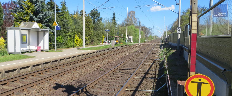 Blick auf Bahnsteig 1