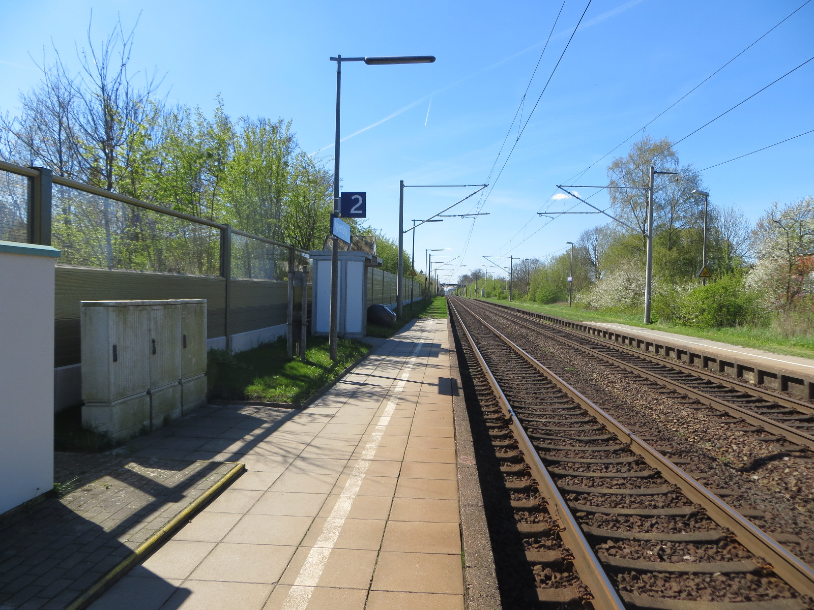 Blick auf Bahnsteig 2